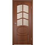 Купить Дверь VERDA Неаполь 2 остекленная 1900х600 ПВХ Итальянский орех