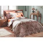 Купить Набор для спальни Hobby home collection Delfina-Carmen покрывало + КПБ 2-х сп. поплин коричневый/персиковый (1501000094)