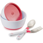 Набор тарелок с крышкой Happy Baby BOWL SET WITH AIRPROOF LID (15025 RED)