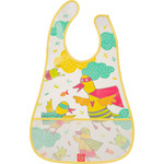 Нагрудник на липучке Happy Baby WATERPROOF BABY BIB (16005 YELLOW (DUCKS))