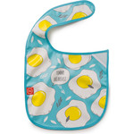 Нагрудник на липучке Happy Baby WATERPROOF BABY BIB (16009 BLUE (яичница))