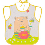 Нагрудный фартук Happy Baby BABY BIB WITH HANGERS (16011 YELLOW (BEAR))