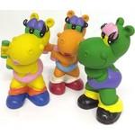 Купить Латексная игрушка LANCO Бегемот-спортсменка (ODA-208)