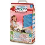 Cat's Best Universal Strawberry древесный впитывающий с ароматом клубники для кошек и грызунов 5,5 (10л)