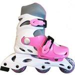 Купить Коньки роликовые Action PW-120-1 (белый/розовый) р. 31-34