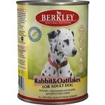 Купить Консервы Berkley For Adult Dog Rabbit & Oatflakes с кроликом и овсяными хлопьями для взрослых собак 400г (75072)