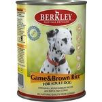 Купить Консервы Berkley For Adult Dog Game & Brown Rice с олениной и коричневым рисом для взрослых собак 400г (75073)