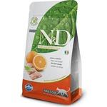 Купить Сухой корм Farmina N&D Adult Cat GF Fish & Orange беззерновой с рыбой и апельсином для кошек 1,5кг (21052)