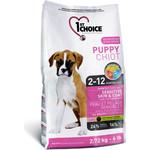 1-ST CHOICE Puppy Sensitive Skin Lamb, Fish&Brown Rice с ягненком, рыбой и рисом для щенков с чувствительной кожей и шерстью 2,72кг(102.309)