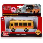 Купить Машина Технопарк Металлический автобус ПАЗ. дети, инерционный механизм, открывающиеся двери (x600-h09138-r)