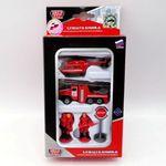 Купить Технопарк Набор металлический пожарная техника/ УРАЛ+вертолет+аксессуары (sb-16-37)
