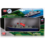 Купить Машина Технопарк Металлическая корабль военный 18см, инерционный механизм, свет+звук (sb-16-11-a)