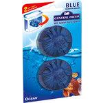 """General Fresh Освежитель WC для смывного бачка """"BLUE"""" (таблетка) морской (541200)"""