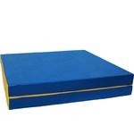 Купить Мат КМС № 8 (100 х 200 10) складной 1 сложение сине/жёлтый (1832)