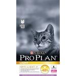 PRO PLAN OPTI LIGHT Low Fat Light Adult Cat Rich in Turkey с индейкой для кошек склонных к полноте 1,5кг (12066154)