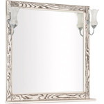 Купить Зеркало Aquanet Тесса 85 жасмин, сандал, массив дуба (185821)
