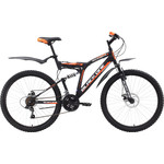 Велосипед Black One Descender FS 26 D Alloy черно-оранжевый 18""