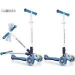 Globber 448-101 Самокат ELITE F My Free Fold up со светящейся платформой SKY BLUE