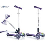 Globber 448-103 Самокат ELITE F My Free Fold up со светящейся платформой PURPLE