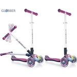 Globber 448-110 Самокат ELITE F My Free Fold up со светящейся платформой RHODAMINE розовый