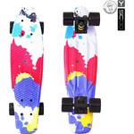 Купить RT 401G-Sp Скейтборд Fishskateboard Print 22'' винил 56,6х15 с сумкой Splatter