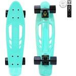 "RT 405-A Скейтборд Skateboard Fishbone с ручкой 22"" винил 56,6х15 с сумкой AQUA/black"