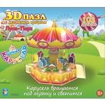 Купить 1Toy 3D пазл с механизмом вращения Карусель ''Цепная карусель'' (Т59383)