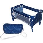 Купить 1Toy Кроватка для кукол, синяя с бантиками (Т57308)