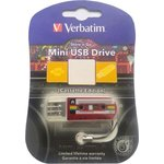 Флеш-диск Verbatim 32Gb Mini Cassette Edition Red (49392)