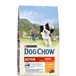 DOG CHOW Adult Active with Chicken с курицей для взрослых активных собак 2,5кг (12233237)