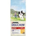 DOG CHOW Adult Active with Chicken с курицей для взрослых активных собак 14кг (12308567)