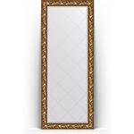 Купить Зеркало пристенное напольное с гравировкой Evoform Exclusive-G Floor 84x203 см, в багетной раме - византия золото 99 мм (BY 6324)