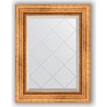 Купить Зеркало с гравировкой Evoform Exclusive-G 56x74 см, в багетной раме - римское золото 88 мм (BY 4017)