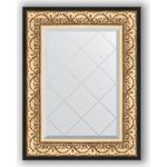 Купить Зеркало с гравировкой Evoform Exclusive-G 60x77 см, в багетной раме - барокко золото 106 мм (BY 4036)