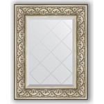 Купить Зеркало с гравировкой Evoform Exclusive-G 60x77 см, в багетной раме - барокко серебро 106 мм (BY 4037)