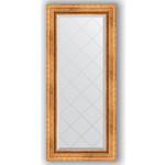Купить Зеркало с гравировкой Evoform Exclusive-G 56x126 см, в багетной раме - римское золото 88 мм (BY 4060)