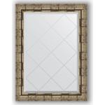 Купить Зеркало с гравировкой Evoform Exclusive-G 63x86 см, в багетной раме - серебряный бамбук 73 мм (BY 4093)