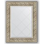 Купить Зеркало с гравировкой Evoform Exclusive-G 70x92 см, в багетной раме - барокко серебро 106 мм (BY 4123)