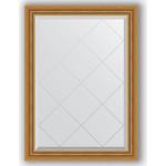 Купить Зеркало с гравировкой Evoform Exclusive-G 73x101 см, в багетной раме - состаренное золото с плетением 70 мм (BY 4174)
