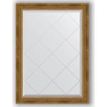 Купить Зеркало с гравировкой Evoform Exclusive-G 73x101 см, в багетной раме - состаренная бронза с плетением 70 мм (BY 4176)