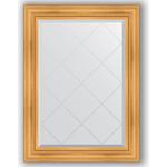 Купить Зеркало с гравировкой Evoform Exclusive-G 79x106 см, в багетной раме - травленое золото 99 мм (BY 4202)