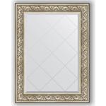Купить Зеркало с гравировкой Evoform Exclusive-G 80x107 см, в багетной раме - барокко серебро 106 мм (BY 4209)