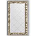 Купить Зеркало с гравировкой Evoform Exclusive-G 80x135 см, в багетной раме - барокко серебро 106 мм (BY 4252)