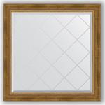 Купить Зеркало с гравировкой Evoform Exclusive-G 83x83 см, в багетной раме - состаренная бронза с плетением 70 мм (BY 4305)