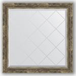 Купить Зеркало с гравировкой Evoform Exclusive-G 83x83 см, в багетной раме - старое дерево с плетением 70 мм (BY 4307)