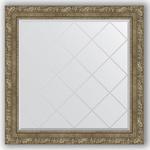 Купить Зеркало с гравировкой Evoform Exclusive-G 85x85 см, в багетной раме - виньетка античная латунь 85 мм (BY 4317)