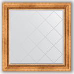 Купить Зеркало с гравировкой Evoform Exclusive-G 86x86 см, в багетной раме - римское золото 88 мм (BY 4318)