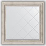 Купить Зеркало с гравировкой Evoform Exclusive-G 86x86 см, в багетной раме - римское серебро 88 мм (BY 4319)
