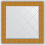 Купить Зеркало с гравировкой Evoform Exclusive-G 86x86 см, в багетной раме - чеканка золотая 90 мм (BY 4323)