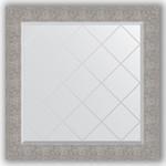 Купить Зеркало с гравировкой Evoform Exclusive-G 86x86 см, в багетной раме - чеканка серебряная 90 мм (BY 4324)